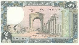 LEBANON 250 LIVRES 1988 P- 67e UNC */* - Liban