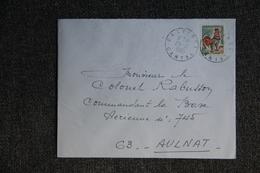 Lettre De CALVINET ( CANTAL) Vers AULNAT (63) - Marcophilie (Lettres)