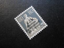 ZNr.10 - 80C**/MNH - Völkerbund (Dienstmarken) - IV - BIT  1923 - Z CHF 40.00 - Officials