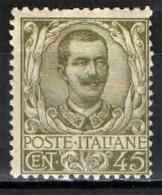 ITALIA REGNO - 1901 - EFFIGIE DEL RE VITTORIO EMANUELE III - VALORE DA 45 CENT. - NUOVO MNH - Nuevos