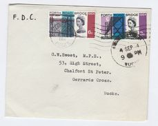 1964 Gerrards Cross GB FDC FORTH ROAD BRIDGE Stamps Cover - FDC