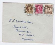1953  Kippford Dalbeattie Cds GB  FDC Definitives Stamps Cover - 1952-1971 Em. Prédécimales