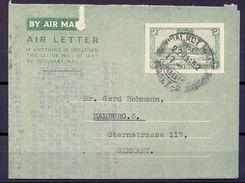 1952 , PAKISTAN , AEROGRAMA CIRCULADO ENTRE SIALKOT CITY Y HAMBURGO - Pakistan