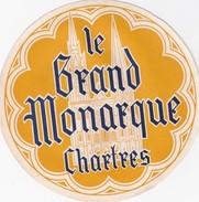 FRANCE -  HOTEL LUGAGGE  LABEL - HOTEL LE GRAND MONARQUE - CHARTRES - Etiquettes D'hotels