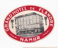 FRANCE -  HOTEL LUGAGGE  LABEL - GRAND HOTEL DE FLANDRE - NAMUR - Etiquettes D'hotels