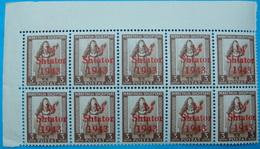 1943 ALBANIA 10 STAMPS 1 QIND On 3 QIND 14 SHTATOR 1943 MNH - Albanie