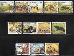 Botswana, Scott # 520-22,524-8,530-3 Used Wild Animals, 1992 - Botswana (1966-...)