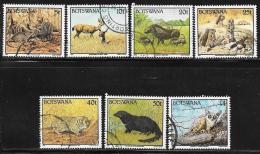 Botswana, Scott # 521-22,525-6,528,530,532 Used Wild Animals, 1992 - Botswana (1966-...)