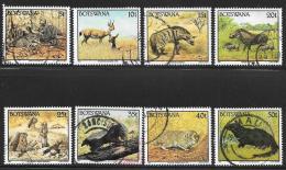 Botswana, Scott # 521-22,524-30 Used Wild Animals, 1992 - Botswana (1966-...)