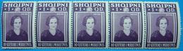 1938 ALBANIA 5 STAMPS 1 QIND, 10 YEARS KINGDOM MNH - Albanie