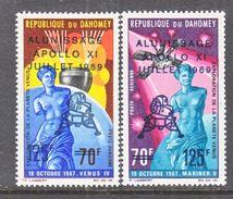 DAHOMEY  C 103-4   **   SPACE   APOLLO  XI   VENUS  DE  MILO - Space