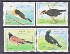 LAOS  1213-16   **   ASIAN  BIRDS - Laos