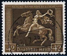 Germany B119 Dark Brown  (Michel 671x)  USED  Issue Of  1938... EXPERTIZED - Deutschland