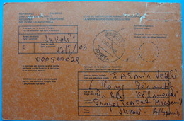 2008 ALBANIA NOTIFICATION RECEIPT, Postmark SHKODER - Albanie