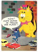 Illustrateur BARBEROUSSE - FLUTE ! JUSTE QUAND JE TROUVE UNE PLACE - Chat Et Souris - N° 57 - Barberousse