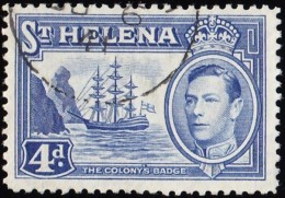 ST. HELENA - Scott #122B George VI / Used Stamp - Saint Helena Island