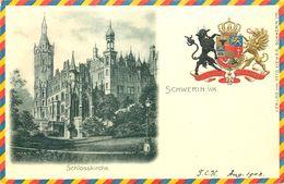 1902 SCHWERIN, SCHLOSSKIRCHE, COAT OF ARMS, GERMANY, VINTAGE POSTCARD - Schwerin