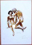 (XL) Ex-Libris 50 Exemplaires > HERMANN : Jeremiah (dessin érotique Inédit), Numéroté Et Signé - Ex-libris