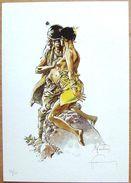 (XL) Ex-Libris 50 Exemplaires > HERMANN : Kurdy (dessin érotique Inédit), Numéroté Et Signé - Bookplates (Ex Libris)