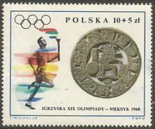 Poland - 1968 Mexico Olympics 10+5z  MNH **   Sc B113 - 1944-.... Republic