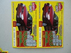 GREECE USED LOTTERY LOTTARIA  SCRACH  CAR  2 - Billets De Loterie
