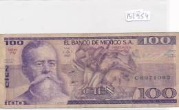 Billets -B2954-Mexique-100 Pesos (type, Nature, Valeur, état... Voir  Double Scans) - Mexico