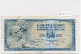 Billets -B2934-Yougoslavie -50 Dinara 1968 (type, Nature, Valeur, état... Voir  Double Scans) - Yugoslavia