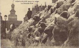 PONTARLIER Sous La Neige - La Grande-rue  -ed. Faivre-Locca - Pontarlier