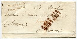 PARIS LSC Non Datée Avec Marques Service Du Roi Et Ministre De La Maison Du Roi - Poststempel (Briefe)