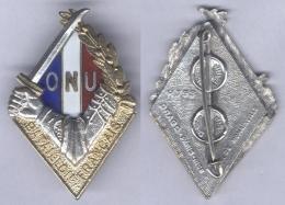 Insigne Du Bataillon Français De L'O.N.U En Corée - Armée De Terre