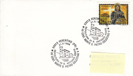 1996 FERENTINO VII CENT. MORTE S. PIETRO CELESTINO V - Papi