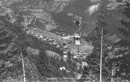 CPSM Dentelée 9 X 14 Suisse Valais CHAMPERY Et Le Téléphérique De Planachaux.  Cabines Se Croisant - VS Valais