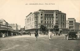MAROC CASABLANCA Noir Et Blanc PLACE DE FRANCE 116 (scan Recto-verso) KEVREN0214 - Casablanca