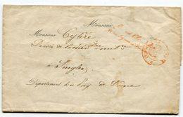 PARIS LAC Du 07/03/1858 En Franchise Avec Marque Grand Chancellier De La Légion D 'Honneur - 1849-1876: Periodo Classico