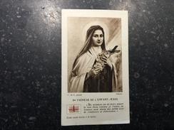 17XYZ - Sainte Thérèse Avec Relique Tissu - Images Religieuses