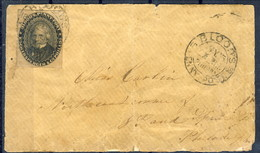 US Local Blood's Penny Post 15L18 On Cover. Philadelphia 1850s - 1845-47 Emissions Provisionnelles