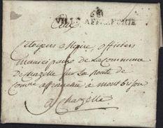 Marque Révolutionnaire De La Ville De Lyon 68 Ville Affranchie Lettre De La Duchere Commune De Vaise An 2 1793 Taxe - 1701-1800: Precursors XVIII