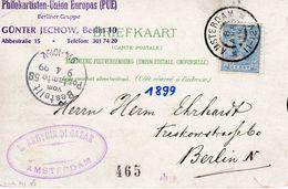8 APR 99 Mooie Ansicht Van Amsterdam Naar Berlin - Periode 1891-1948 (Wilhelmina)