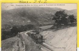 Tramway : PUY De DOME  Après Le Tournant Du Gendarme ( Tampon Milit. Détachement De Roanne) - Tranvía