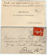 VP11.796 - CDV - Carte De Viste Autographe De Mr BRIEUX De L'Académie Française à PARIS - Autographs