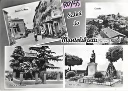 Lazio-roma-montelibretti Piazza S.rocco Castello Monumenti Vedute Saluti Da Montelibretti - Italy
