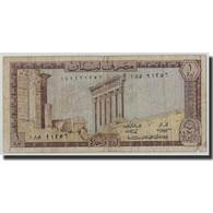Billet, Lebanon, 1 Livre, 1974, KM:61b, B - Liban