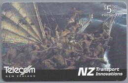 NZ.- TELECOM NEW ZEALAND PHONECARD. $ 5. .- NZ Transport Innovations - Nr. 081. Great Ocean-going Waka As ....- 2 Scans. - New Zealand