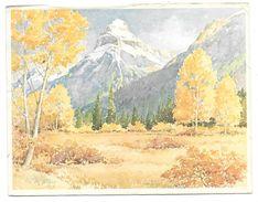 PILOT MOUNTAIN - NEAR JOHNSTON CANYON - BANFF NATIONAL PARK, ALBERTA - Edward Goodall - 1971 - Banff