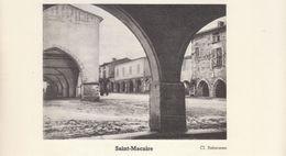 1935 - Iconographie - Saint-Macaire (Gironde) - La Place Du Marcadieu - FRANCO DE PORT - Vieux Papiers
