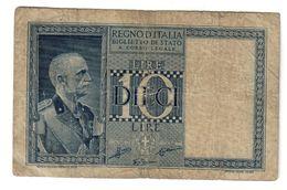 Italy 10 Lire 1938 .L. - [ 1] …-1946 : Kingdom