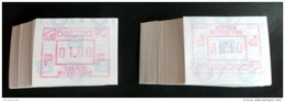 "Automatenmarken: Belgien - 200 X BELGICA 90 ""KOPFSTEHENDE ATM"": 100 X F + 100 X N. - Postage Labels"