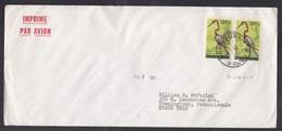 Burundi: Airmail Cover To USA, 1968, 2 Stamps, Bird, Rare Real Use (minor Damage, See Scan) - Burundi
