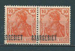 Saar MiNr. 45 ** Aufdruck Sehr Stark Verschoben (sab17) - 1920-35 Saargebied -onder Volkenbond