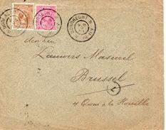 4 AUG 97 Envelop Van DORDRECHT Met Combinatiefrankering NVPH 37 En 39 Naar Brussel - Periode 1891-1948 (Wilhelmina)